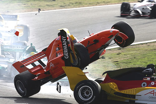 Jos Verstappen crashing